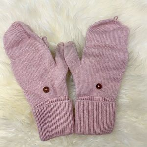 J.Crew Pink Wool Gloves